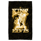 Elvis Presley in Gold THE KING Prayer Pose Lightweight Beach Towel