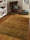 Rugsotic Carpets Hand Knotted Gabbeh Wool Area Rug Contemporary Green