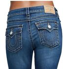True Religion Women's Frayed Ankle Super Skinny Jeans w/ Flaps in Sunset