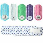 5/10/50/100 Pokerkoffer Pokerset Chips Laser Pokerchips Poker Set Acryl Koffer