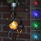 Solar Powered Wind Chime Light LED Garden Hanging Spinner Lamp Color Changing US