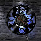 Large Numbers Wall Clock Big Numbers Simple Abstract Vinyl Record Wall Clock