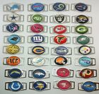 NFL Team Paracord/ Shoelace dubraes Oval Charm NFL Team Charms Free Shipping $1.99 USD on eBay