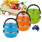 Stainless Steel  Lunch Boxes Portable Thermal Insulation Lunch Box 2 Layer