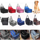 Pet Dog Cat Travel Car Seat Carrier Belt Booster Basket Folding Bag Kennel Mat