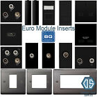 BG Black Nickel Black Euro Data Module Inserts HDMI TV SAT Cat5 Cat6 USB Media