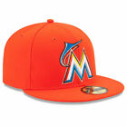 Miami Marlins Orange 59FIFTY New Era On Field Fitted Cap Hat Authentic New