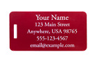 Custom Engraved Jumbo Aluminum Luggage Tag- 6 Colors Available- Personalized