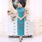 Внешний вид - 2018 Chinese Traditional Cheongsam Women Long Silk Dress Size M-3XL