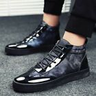 High Top Shoes Men Casual Lace up Shoes Breathable Sports Sneaker Comfy Footwear