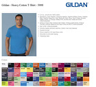 100 Gildan T-SHIRTS BLANK BULK LOTS Colors or 100 White Plain S--XL Wholesale 50 image