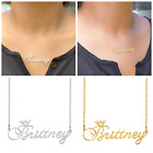 Kyпить Personalized Sterling Silver Gold ANY NAME Plated Script Chain Necklace Crown  на еВаy.соm