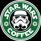 Star Wars And Coffee Starbucks Storm Trooper  Sticker 5 Sizes!!! $2.99 USD on eBay