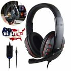 3.5mm Wired Gaming Headset Switch PC Stereo MIC Headphone for PS4 Xbox One MIC