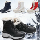 SUADEEX Womens Winter Waterproof Flat Casual Fur Warm Shoes Snow Ankle Boots