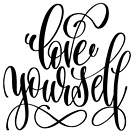 love yourself vinyl decal sticker quote home