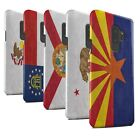 STUFF4 Matte Phone Case for Samsung Galaxy S9 Plus/G965 /Vintage USA State Flag