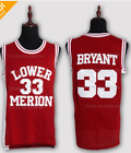 Kobe Bryant Lower Merion High School Stitched Jersey Throwback Number 33