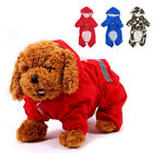 Lovely Pet Dog Puppy Rain Coat Waterproof Jacket Hooded Reflective Clothes