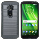Hybrid Armor Shockproof Brushed Slim Cover Case For MOTOROLA MOTO G6 PLAY Plus