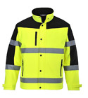 "CLASS 3 HIGH VISIBILITY TWO TONE SOFTSHELL JACKET 2"" REFLECTIVE TAPE S-6X US429"
