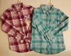 FADED GLORY GIRLS FLANNEL 2 PACK BERRY BRIGHT FLOWERS CLEAR OCEAN MED 7/8 NWT