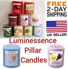 Pillar Candles Scented Luminessence Fresh Linen Ap picture