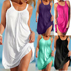 Womens Sexy Summer Bohemian Casual Fashion O-Neck Sleeveless Beach Mini Dress 05