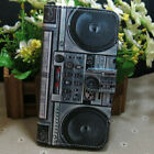 1x Retro Cassette Tape Player Wallet Hold flip case cover for Various Cell phone