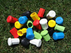 Lacrosse shaft stick butt end cap black blue green red pink white or yellow