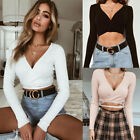 Sexy Women Ladies Summer Loose Tops Long Sleeve T Shirt Blouse Casual Plus Size