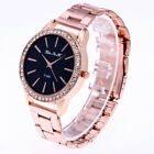 Stainless Steel Fashion Women Girl Wristwatch Crystal Watch Quartz Analog AI image