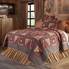 FARMHOUSE COUNTRY PRIMITIVE MILLSBORO PATCHWORK QUILTED BEDDING COLLECTION image