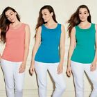 New Ladies 3 Pack Summer Basics Mesh Panel Tanks T Shirt Top Sizes M,L RRP $16