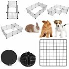Pet Dog Fence Kennel Collapsible Easy Install Cage Enclosure Yard Home Storages-