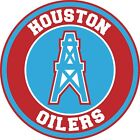 Houston Oilers Circle Logo Vinyl Decal / Sticker 5 sizes!!