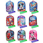 "Boys Girls Backpack 15"" & Pencil Case Paw Patrol Disney Marv"