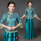 Внешний вид - Republic of China costume Chinese style qipao cheong-sam dance dress tops 2PCS #