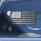 American Flag Contractor Decal Sticker - US Flag Construction Contractor Decal