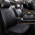 All 5 seats Car Seat Cover Mat PU Leather 3D Surround Chair Cushion Durable NBTS