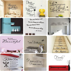 Removable Word Art Vinyl Wall Stickers Mural Home Kitchen Ro