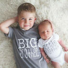 Family Matching Tops Little/Big Brother Romper T-shirt Newborn Baby Boy Clothes