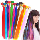 100s 20inch Solid colors Synthetic Fiber I Tip Feather Hair Extension