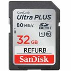 Original SanDisk 16GB / 32GB / 64GB SD Card Class 10 UHS-1 U1 SDHC Memory Card