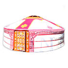 Mongolian Yurt, Pink Canvas Cover with Ulzii Pattern