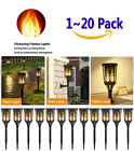 1-20 Pack 96 LED Waterproof Solar Tiki Torch Light Dancing Flickering Flame Lamp