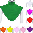 Women False Collar Hijab Moslem Islamic Pure Color Neck Cover Loop Scarf Noted