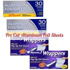 no aluminum foil - New Set Reynolds Wrappers Aluminum Foil Sheets No Cutting Tearing