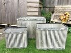 Extra Large Vintage Style Metal Garden Planters Tubs Flower Pots - 3 Sizes
