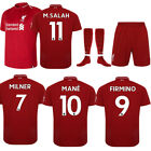 18/19 New Football Training Team Suit Adults Short Sleeves Sportswear Jersey Set